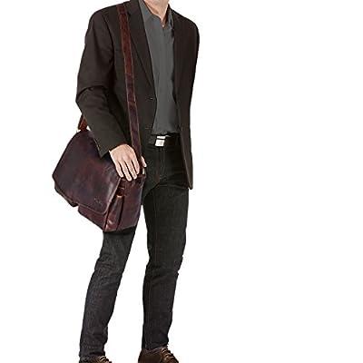 STILORD 'Leonardo' Besace Vintage pour Homme Bandoulière Cuir Sac à l'Épaule pour Ordinateur 15,6 Pouces et Classeur A4 Grand en Cuir