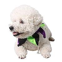 NashaFeiLi Pet Halloween Jewelry, Dog Cat Christmas Hat Collar Headdress Accessories Gifts for Puppy Dog Cat (S, Green Clown Collar)