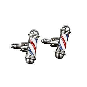 OULII 2 PCS Barber Pole Style Uomo Clip per cravatta alla moda Tie elegante Fermacravatta per serate Business Party (Argento)