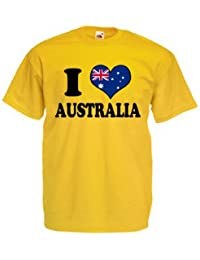I Love Heart Australia Mens T Shirt