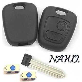 Schutzgehäuse für Funk-Autoschlüssel mit 2Tasten, schraubenlos, 2 Schalter inklusive