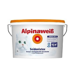 Alpina Wandfarbe 867177 Alpinaweiß Seidenlatex 2 Liter