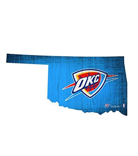 Fan Creations Schild NBA Holz 30,5cm State Form Design, Oklahoma City Thunder -