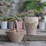 LUOSHEN Moderne Pflanzer saftige Blumentöpfe, Vintage Steinzeug, Töpfe, Bunte Töpfe, 2 Pralinen, 11 * 11cm