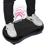 Weiss Vibrationsplatte Lifeplate Vibro Shaper Ganzkörper Fitnessgerät, Muskeln aufbauen/Fett abbauen
