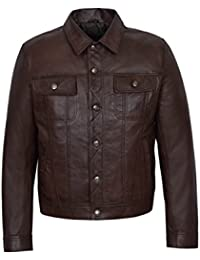 Smart Range Trucker 1280 Hombres Marrón Clásico Occidental Real Napa Soft Auténtica Camisa ...