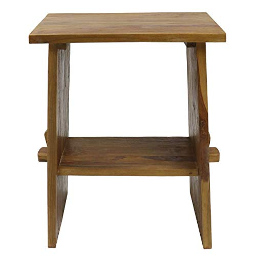 Waschtisch Waschbeckenunterschrank Tisch Badmöbel Badezimmermöbel Teakholz Hellbraun 60 cm ideal für Naturstein Aufsatzbecken