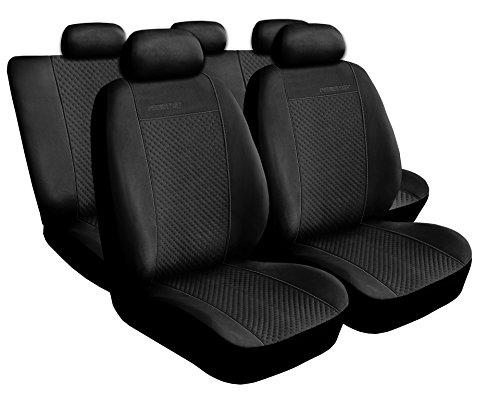 Saferide Universal Schwarz Sitzbezüge Komplettset Sitzbezug für Auto Sitzschoner Set Schonbezüge Autositz Autositzbezüge Sitzauflagen Sitzschutz Prestige