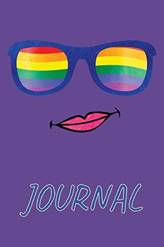 Journal: LGBT Gay Flaggen Sonnenbrille Notizbuch     Journal mit 110 Linierte Seiten