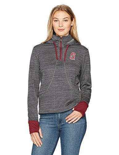 OTS NCAA Damen Annabelle 1/4-Zip Hoodie, Annabelle 1/4-Zip Pullover Hoodie, Logo, Large -
