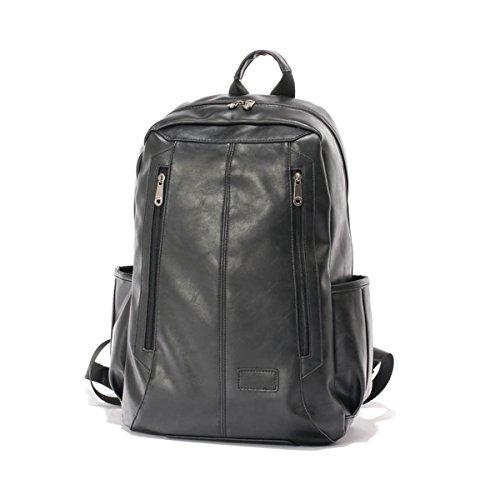 Zaino in Pelle, Kvolity Vintage Stile Casual Unisex Borsa per PC Portatile Pelle PU Adatto (Zaino In Pelle Nera Borse)