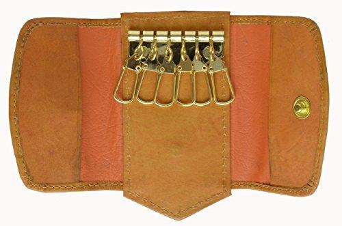 Marshal 100% Genuine Leather Key Holder Tan #1312CF