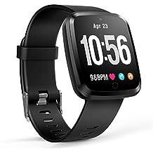 Reloj Inteligente Bluetooth 4.0, Pulsera Inteligente de Actividad Deportiva con Monitor de frecuencia Cardíaca para