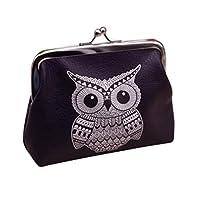 Bestow Purse, Womens Wallet Card Holder Coin Purse Clutch Handbag (Owl)