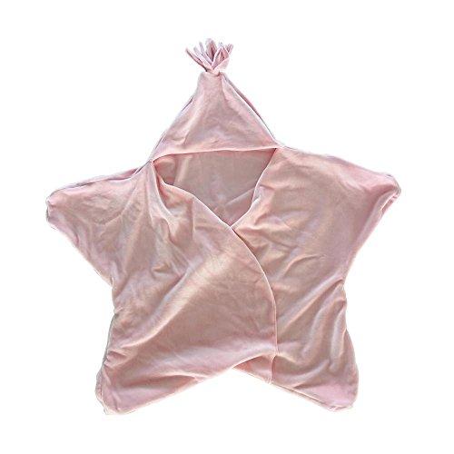 Baby Swaddle Decke Baby Baby Star Nap Decke Schlafsack Neugeborenen Musselin Wrap Schlafsack Upxiang Baby Fotografie Requisiten (Star-Rosa)