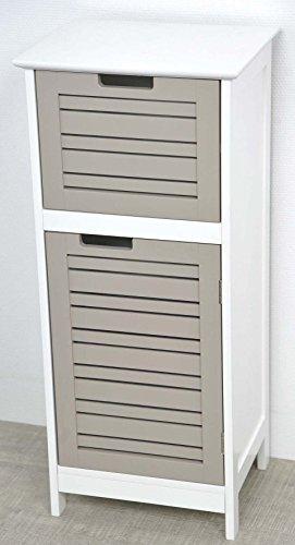 Columna de baño baja - 1 puerta y 1 cajón - Mueble de diseño