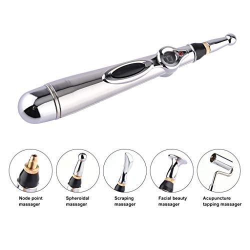 Elektrische Akupunktur Magnet Therapie Heilen Massage Stift Meridian Energy Pen, Nadellose Akupunktur Werkzeuge Für Schmerzlinderung Und Gesundheitswesen, 1 X AA Batterie (Nicht Enthalten)