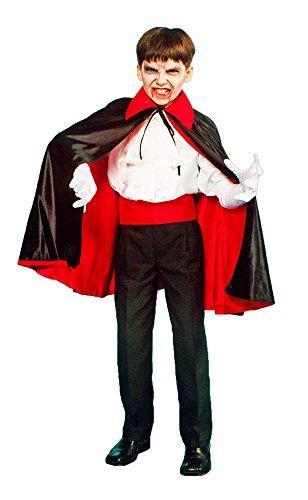 Vampir Umhang für Kinder Gr. (Mädchen Kleine Vampir Kostüme)