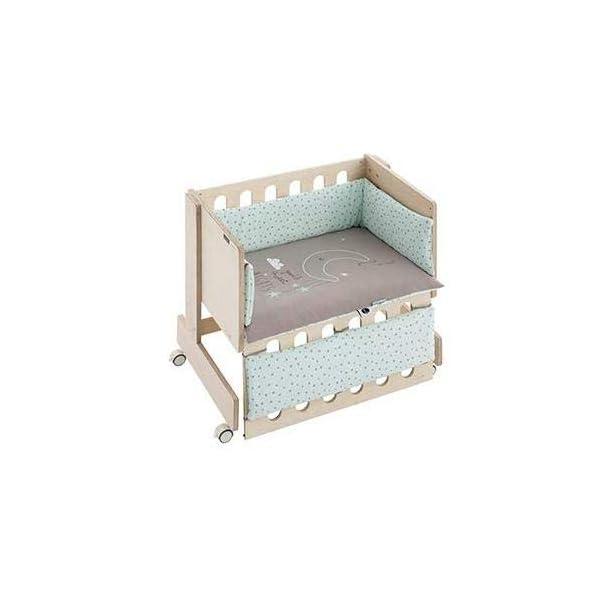 Bimbi Mini Cot Bimbi Casual baby bedroom. Cot bedroom. Natural mini bedspread 5
