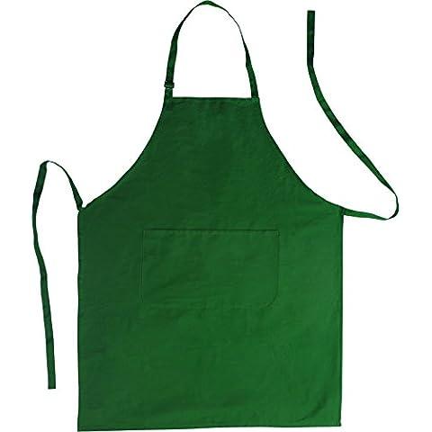 Grillschürze - Grembiule da cucina, in cotone, colore: Verde
