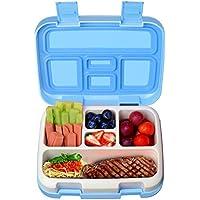 KidsHobby Kinder Lunchbox Auslaufsicher Lunch-Boxen Bento Box Brotdose mit 5 Unterteilungen (Blau)