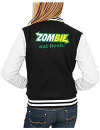 Zombie Eat Flesh College Vest Girls Negro Certified Freak