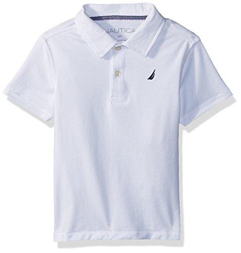 Nautica Jungen Polo Hemd - weiß - Small (Nautica Hemd Weißes Jungen)