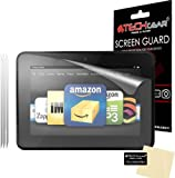 """[3 Pack] TECHGEAR® Amazon Kindle Fire HD 7.0 inch (2012 / 2nd Generation) CLEAR LCD Screen Protectors (NOT FOR Kindle Fire HD 7"""" 3rd Gen/2013 Edition or Fire HD7 4th Gen/2014 Edition)"""