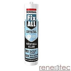 SOUDAL Fix All Crystal Dichtklebstoff Farbe Glasklar 83111104 290ml