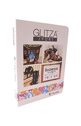 Knorrtoys GL7070 GLITZA Sport - Set Deluxe Horse Riding con 80 Tatuaggi