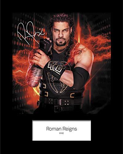 Roman Reigns WWE #4 Foto-Nachdruck, signiert, 25,4 x 20,3 cm, passend für 25,4 x 20,3 cm große Rahmen, maschinell geschnitten, Geschenk, Sammlerstück