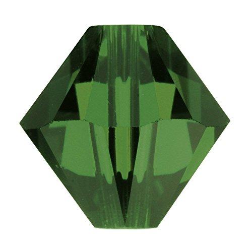 Swarovski 5328-6mm bicono Swarovski perline-verde (Swarovski Xilion Diamante)