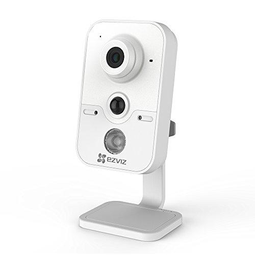 EZVIZ C2Cube IP Telecamera di Sicurezza, 720P HD, 2.4Ghz Wi-Fi Videocamera di Sorveglianza con Audio Bidirezionale, Baby Monitor del Bambino & Animale, Sensore PIR, Visione Notturna