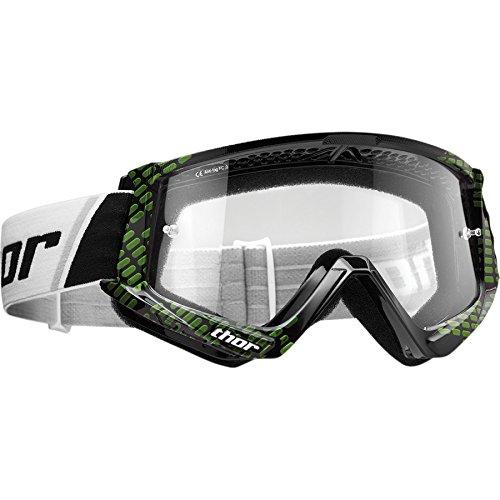 Thor Combat Motocross Goggle Brille SX MX DH Downhill Offroad Enduro schwarz weiss orange (Cap - Grün Frauen-ski-schutzbrillen