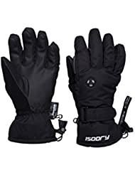 Mountain Warehouse Extreme Waterproof Womens Ski Gloves - Quick Drying, Silicone Palm Print, Nose Wipe, Fleece Lining, Soft Cuffs - Ideal For Skiing