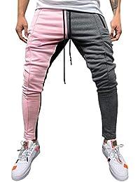AMUSTER Pantaloni da Uomo Pantalone Jogger Pantalone Pantalone da Jogging  Pantalone Allentato Solido Colorato Moda Casual 0100dc1b9dc