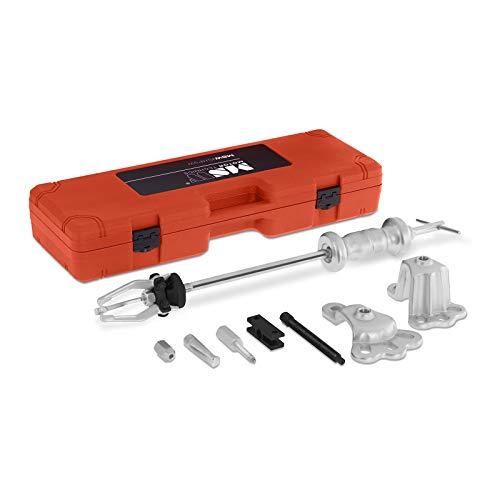 MSW-SHP9W Radlager Abzieher Radlagerwerkzeug Set (19-teilig, Gleithammer, 2- oder 3-armige Innen- und Außenabzieher, geeignet für 4- und 5-Loch-Naben)