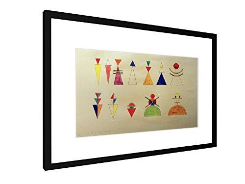 Wassily Kandinsky - Bilder einer Ausstellung, Zahlen, Bild XVI - 60x40 cm - Bild mit Rahmen / Gerahmtes Poster - Kunstdruck - Wandbild - Kunst, Gemälde, Foto, Bild - Alte Meister / Museum