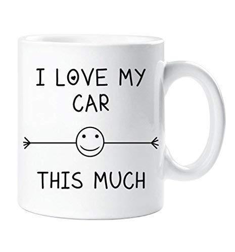 I Love My Car This Much Becher Freund Ehemann Boyfriend Großvater Onkel Geburtstag Geschenk Weihnachten Neuheit Humor Spassig