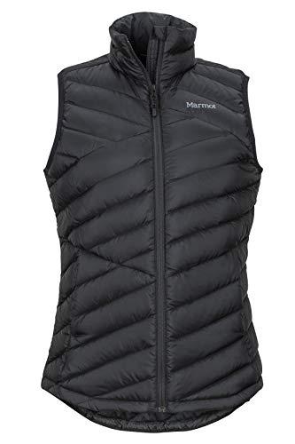 Marmot Damen Wm's Highlander Vest Ultra-leichte Daunenweste, 700 Fill-Power, Warme Outdoorweste, Wasserabweisend, Winddicht, Black, L -