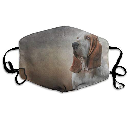 Dog Basset Hound Printed Mouth Masks Unisex Anti-dust Masks Reusable Face Mask Basset-hound-fleece