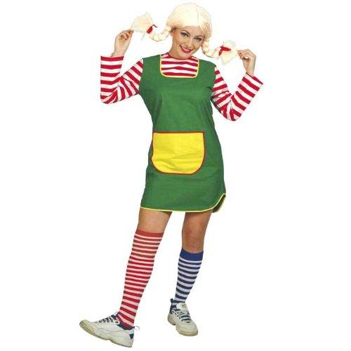 chen Göre, Gr.46 (L), Kleid Karneval Wirbelwind Langstrumpf (Rote Wirbelwind Kostüm)