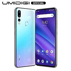 """UMIDIGI A5 Pro Smartphone ohne vertrag, Handy 4GB+32GB(256GB erweiterbar), 6.3"""" FHD+ Waterdrop Full Screen, Triple Kamera(16MP+8MP+5MP), Glasrückseite, Android 9.0, Dual SIM (Breathing Crystal)"""