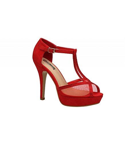 Buonarotti , Sandales pour femme Rouge