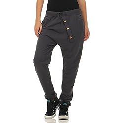 malito Urban Pantalón Boyfriend Baggy Aladin Bombacho Sudadera 3302 Mujer Talla Única (gris oscuro)