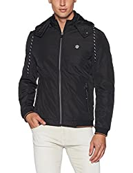 Fort Collins Mens Quilted Nylon Jacket (N101 AZBlackL)