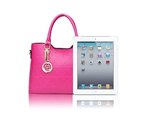 Moda Borse Donna Messenger Bag Borse in Pelle Tote Borsa Style Borsetta Blu reale