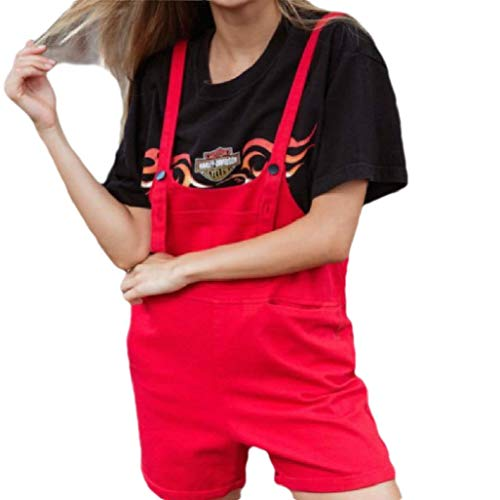 t Skinny Weekend Playsuit Simple Short Overalls Red S ()