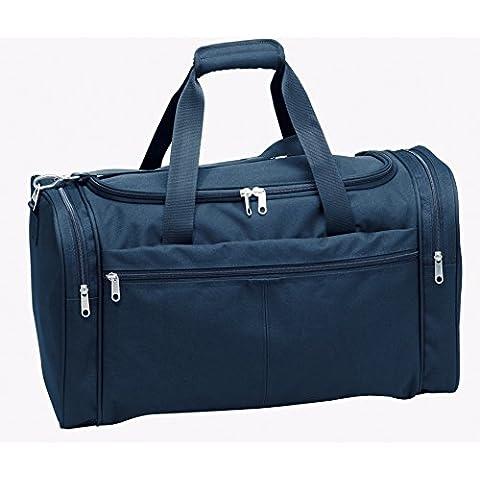 Borsa da viaggio 6dn312–01nero + 06- blu bagaglio a mano 54cm Bags & More D & N