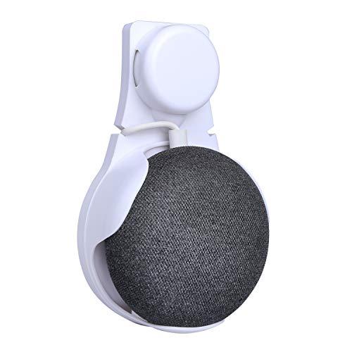 Webla Nintendo Elf Ball Material Silikon Einfarbig Wandhalterung Stecker Smart Ladehalter Kopfhalter Für Google Home Mini (Weiß)